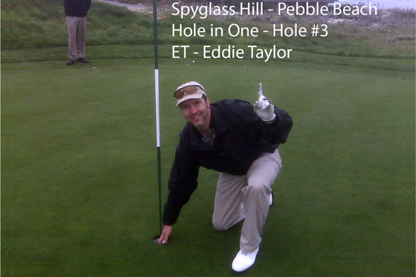 Get The Shot, Get ET Photography Pebble Beach Hole in One Spyglass number 3 Eddie Taylor ET