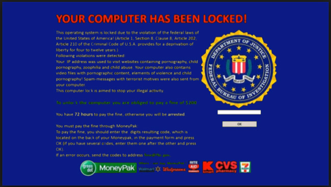 FBI Virus Malware, Are you seeing this on your computer, Email or Call Eddie Taylor at ET Computer Repair 949-888-8698