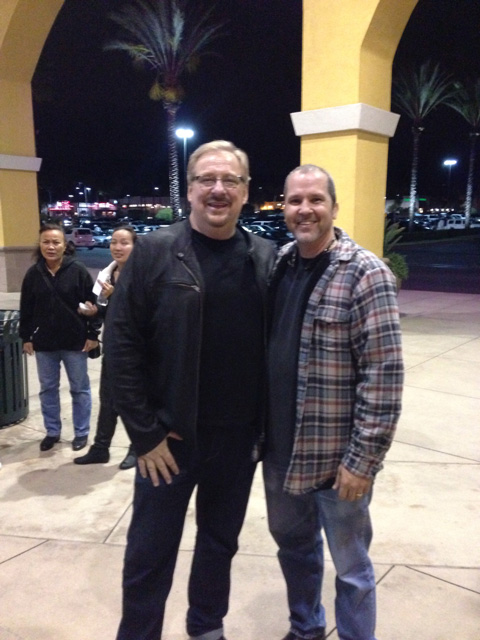 Pastor Rick Warren Founder of Saddleback Church and Eddie Taylor at the pre-opening Son of God Movie
